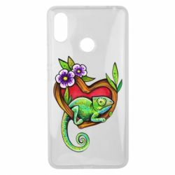 Чехол для Xiaomi Mi Max 3 Chameleon on a branch