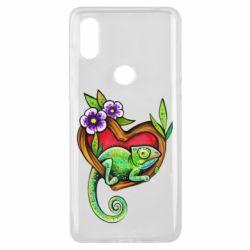 Чехол для Xiaomi Mi Mix 3 Chameleon on a branch