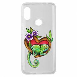 Чохол для Xiaomi Redmi Note Pro 6 Chameleon on a branch
