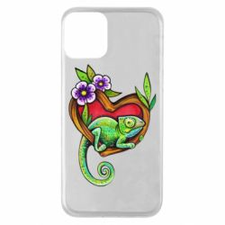 Чохол для iPhone 11 Chameleon on a branch