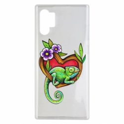 Чохол для Samsung Note 10 Plus Chameleon on a branch