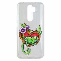 Чехол для Xiaomi Redmi Note 8 Pro Chameleon on a branch