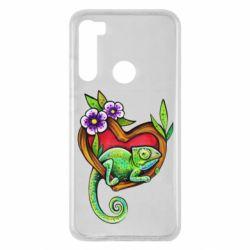 Чохол для Xiaomi Redmi Note 8 Chameleon on a branch