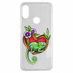 Чехол для Xiaomi Redmi Note 7 Chameleon on a branch