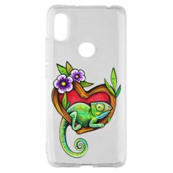 Чехол для Xiaomi Redmi S2 Chameleon on a branch