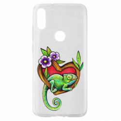 Чехол для Xiaomi Mi Play Chameleon on a branch