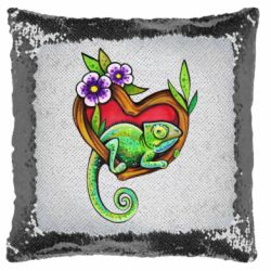 Подушка-хамелеон Chameleon on a branch