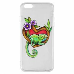 Чохол для iPhone 6 Plus/6S Plus Chameleon on a branch