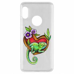 Чехол для Xiaomi Redmi Note 5 Chameleon on a branch