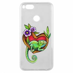 Чехол для Xiaomi Mi A1 Chameleon on a branch