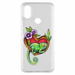 Чохол для Xiaomi Mi A2 Chameleon on a branch