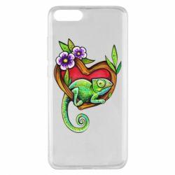 Чохол для Xiaomi Mi Note 3 Chameleon on a branch