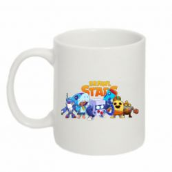 Кружка 320ml Characters of the game Brawl stars
