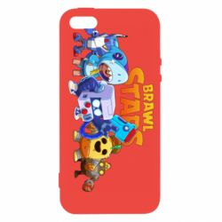 Чехол для iPhone5/5S/SE Characters of the game Brawl stars