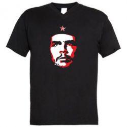 Чоловіча футболка з V-подібним вирізом Che Guevara face