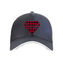 Кепка Checkered heart with the inscription Love