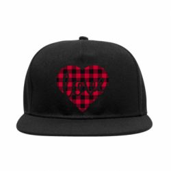 Снепбек Checkered heart with the inscription Love