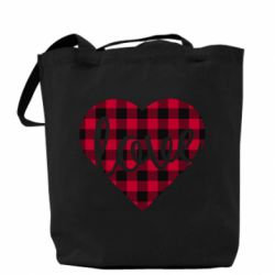 Сумка Checkered heart with the inscription Love