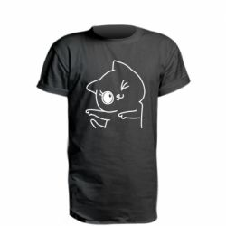 Удлиненная футболка Cheerful kitten