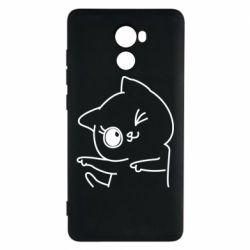 Чехол для Xiaomi Redmi 4 Cheerful kitten