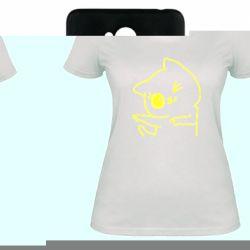 Женская футболка Cheerful kitten