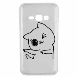 Чехол для Samsung J1 2016 Cheerful kitten