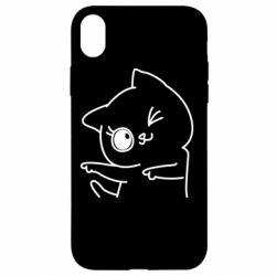 Чехол для iPhone XR Cheerful kitten
