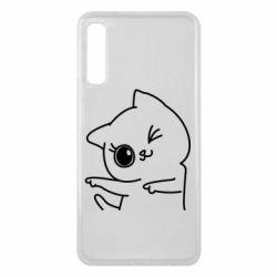 Чехол для Samsung A7 2018 Cheerful kitten