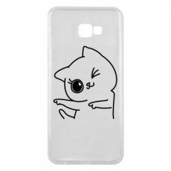 Чехол для Samsung J4 Plus 2018 Cheerful kitten