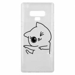 Чехол для Samsung Note 9 Cheerful kitten