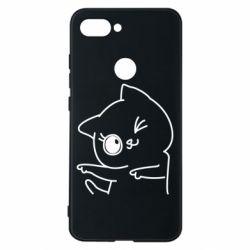 Чехол для Xiaomi Mi8 Lite Cheerful kitten