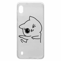 Чехол для Samsung A10 Cheerful kitten