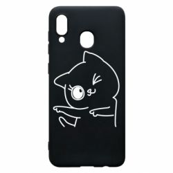 Чехол для Samsung A30 Cheerful kitten