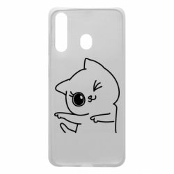 Чохол для Samsung A60 Cheerful kitten