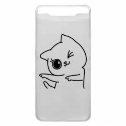 Чехол для Samsung A80 Cheerful kitten