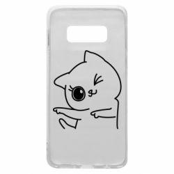 Чехол для Samsung S10e Cheerful kitten