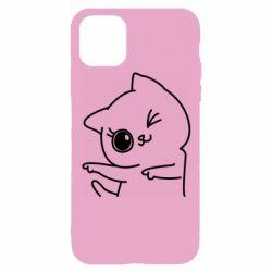 Чехол для iPhone 11 Pro Cheerful kitten