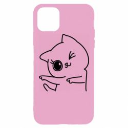Чехол для iPhone 11 Pro Max Cheerful kitten