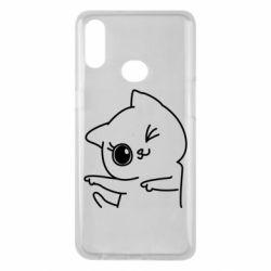 Чохол для Samsung A10s Cheerful kitten