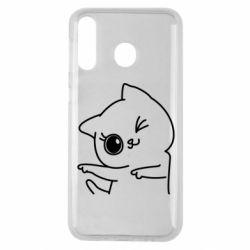 Чехол для Samsung M30 Cheerful kitten