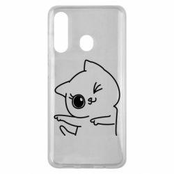 Чехол для Samsung M40 Cheerful kitten