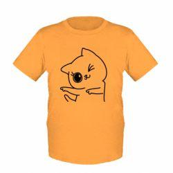 Детская футболка Cheerful kitten