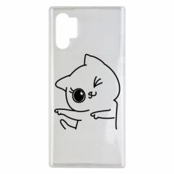 Чехол для Samsung Note 10 Plus Cheerful kitten