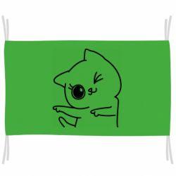 Флаг Cheerful kitten