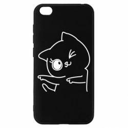Чехол для Xiaomi Redmi Go Cheerful kitten