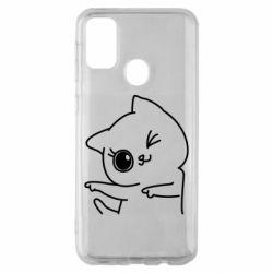 Чехол для Samsung M30s Cheerful kitten