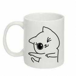 Кружка 320ml Cheerful kitten