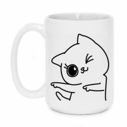 Кружка 420ml Cheerful kitten