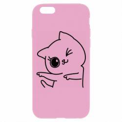 Чехол для iPhone 6 Plus/6S Plus Cheerful kitten