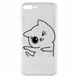 Чехол для iPhone 7 Plus Cheerful kitten